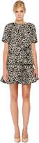 Thakoon Floral-Print Wool-Blend Flared Mini Skirt
