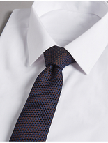 Autograph Silk Rich Embossed Waffle Tie