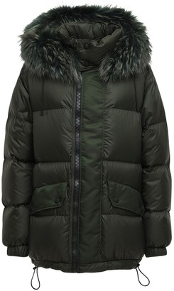 Mr & Mrs Italy Nylon Down Jacket W/ Fur Trim