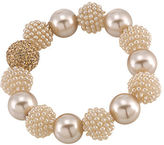 Carolee Pearl and Glass Stone Bracelet