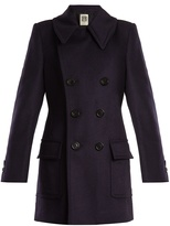 CONNOLLY Double-breasted wool, silk and cashmere-blend coat