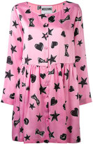 Moschino heart print dress - women - Silk - 38