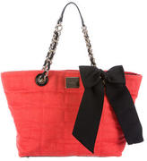 Kate Spade Bow-Accented Canvas Tote