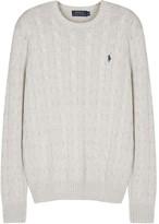 Polo Ralph Lauren Light Grey Cable-knit Cotton Jumper
