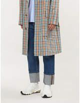 Valentino Turn-up cuff faded wide-leg jeans