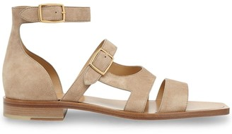 Fendi Square-Toe Strappy Sandals
