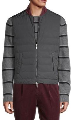 Brunello Cucinelli Reversible Baseball-Collar Vest