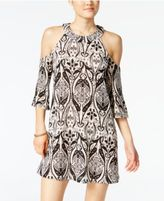 Be Bop Juniors' Printed Cold Shoulder Dress