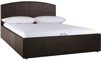 Marston Faux Leather Lift Up Storage Bed with Mattress Options (Buy and SAVE!)