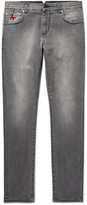 Isaia Slim-Fit Stretch-Denim Jeans