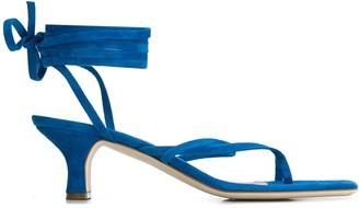 Paris Texas Lace-Up Toe-Ring 45mm Sandals