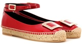 Roger Vivier Embellished Patent Leather Espadrilles