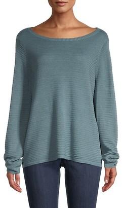 Eileen Fisher Bateau Organic Linen Cotton Sweater