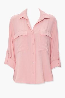 Forever 21 Roll-Tab Sleeve Shirt