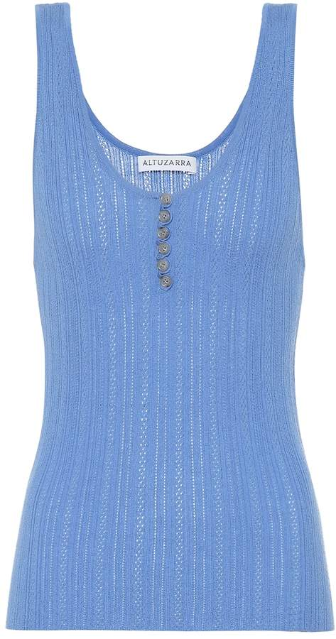 Altuzarra Mirto wool and cashmere tank top