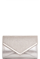 Quiz Silver Diamante And Shimmer Clutch Bag