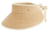 Helen Kaminski Women's 'Mita' Packable Raffia Visor - Brown