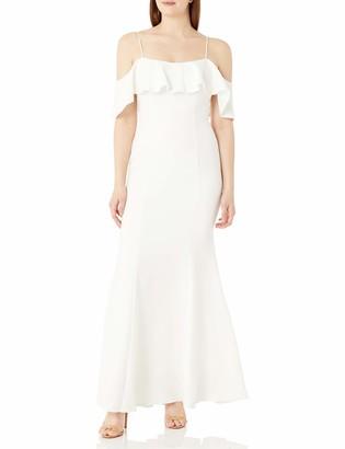 Brinker & Eliza Women's Ruffled Off The Shoulder Gown