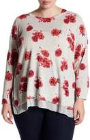Lucky Brand Floral Print Pullover (Plus Size)