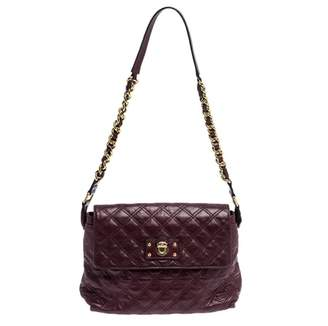 Marc Jacobs Single Purple Leather Handbags