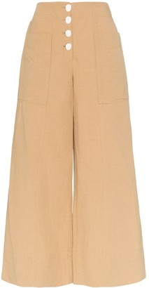 REJINA PYO high-waisted wide leg trousers