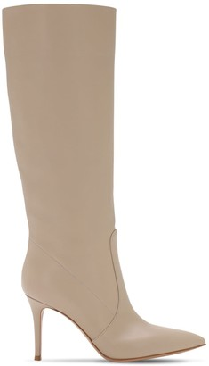 Gianvito Rossi 85mm Slouch Leather Tall Boots