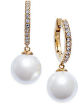 Kate Spade 14k Gold-Plated Imitation Pearl & Pavé Drop Earrings