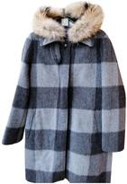 Woolrich Grey Wool Coat for Women