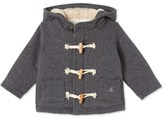 Petit Bateau Baby boys duffle coat in warm cotton fleece