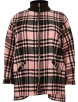 River Island Womens Plus pink check zip shacket