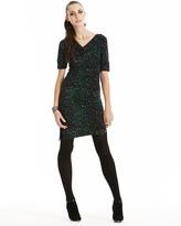 Cheetah Print Dress with Side Drape