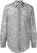 Marc Jacobs distressed check print shirt - men - Cotton - 46