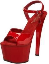 Pleaser USA Women's Sky-309 Platform Sandal,Red Patent,8 M US