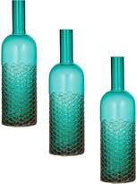 Amalfi by Rangoni Macy Bottle Vase, Turquoise (Set of 3)