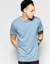 Weekday Slub T-Shirt in Light Blue