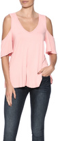 7th Ray Peach Off Shoulder Top