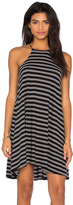 Bobi Double Stripe Jersey Tank Mini Dress
