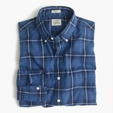 J.Crew Secret Wash shirt in navy plaid heather poplin