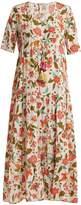 Figue Kalila floral-print silk dress