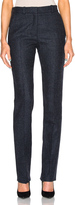 Victoria Beckham Prince Of Wales Wool Slim Leg Trousers