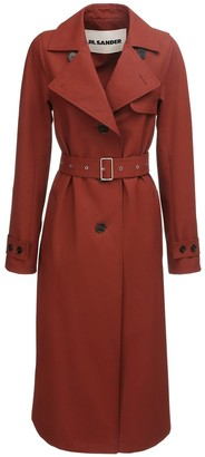 Jil Sander Waterproof Cotton Canvas Trench Coat