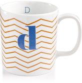"The Cellar Chevron Initial Mug Collection ""D"" Mug"