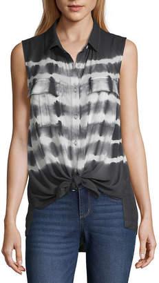 A.N.A Womens Sleeveless Regular Fit Button-Front Shirt
