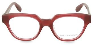 Alexander McQueen 52MM Blue Light Core Square Reading Glasses