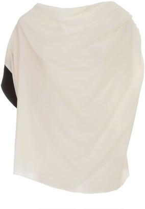 Liviana Conti Asymmetric Shirt Bicolor On One Sleeve