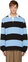 Alexander Wang Blue & Black Striped Polo