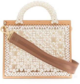 0711 Woven Pearl Tote Bag