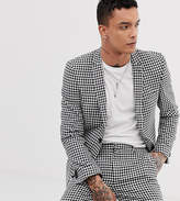 Heart & Dagger skinny fit suit jacket in gingham