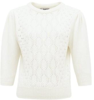 Symonds Pearmain - Pointelle-knitted Wool Sweater - Womens - Ivory