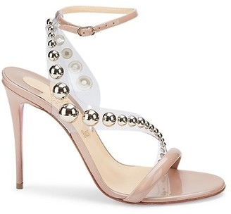 Christian Louboutin Corinetta Embellished PVC & Patent Leather Sandals